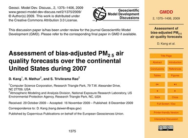 Assessment of Bias-adjusted Pm2.5 Air Qu... by Kang, D.