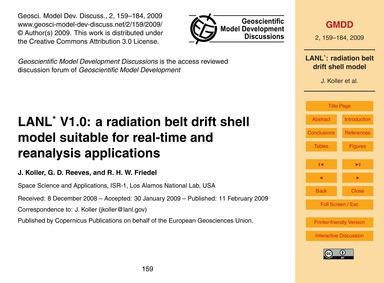 Lanl* V1.0: a Radiation Belt Drift Shell... by Koller, J.