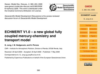 Echmerit V1.0 – a New Global Fully Coupl... by Jung, G.
