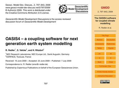 Oasis4 – a Coupling Software for Next Ge... by Redler, R.