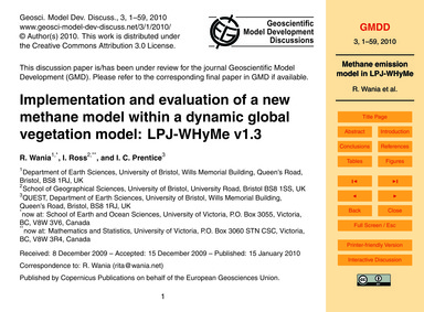 Implementation and Evaluation of a New M... by Wania, R.