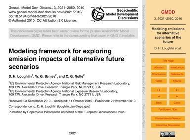 Modeling Framework for Exploring Emissio... by Loughlin, D. H.