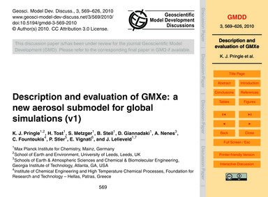 Description and Evaluation of Gmxe: a Ne... by Pringle, K. J.