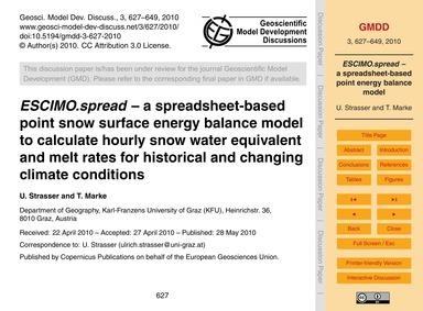 Escimo.Spread – a Spreadsheet-based Poin... by Strasser, U.