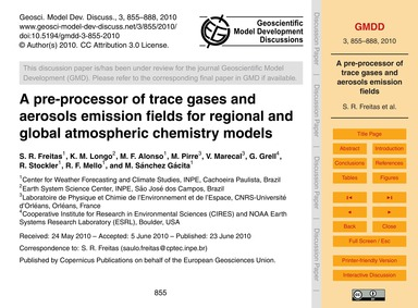 A Pre-processor of Trace Gases and Aeros... by Freitas, S. R.