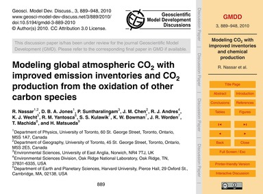 Modeling Global Atmospheric Co2 with Imp... by Nassar, R.