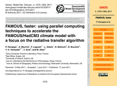 Famous, Faster: Using Parallel Computing... by Hanappe, P.