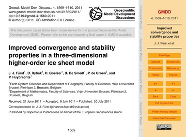 Improved Convergence and Stability Prope... by Fürst, J. J.