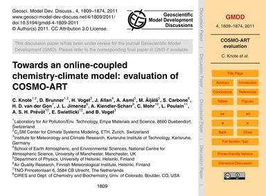 Towards an Online-coupled Chemistry-clim... by Knote, C.