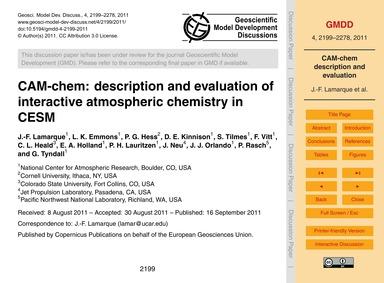 Cam-chem: Description and Evaluation of ... by Lamarque, J.-f.