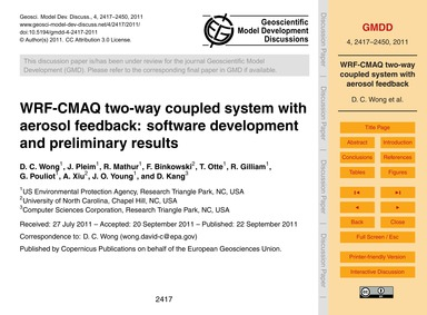 Wrf-cmaq Two-way Coupled System with Aer... by Wong, D. C.