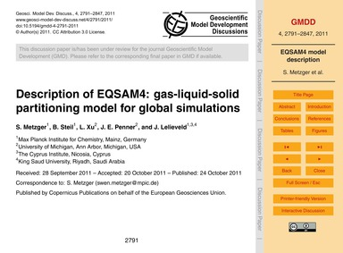 Description of Eqsam4: Gas-liquid-solid ... by Metzger, S.