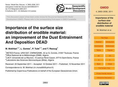 Importance of the Surface Size Distribut... by Mokhtari, M.