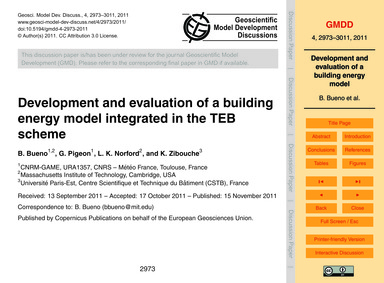 Development and Evaluation of a Building... by Bueno, B.