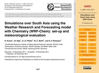 Simulations Over South Asia Using the We... by Kumar, R.