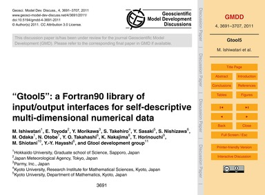 Gtool5: a Fortran90 Library of Input/Out... by Ishiwatari, M.