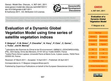 Evaluation of a Dynamic Global Vegetatio... by Maignan, F.