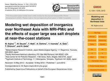 Modeling Wet Deposition of Inorganics Ov... by Kajino, M.
