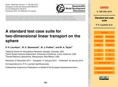A Standard Test Case Suite for Two-dimen... by Lauritzen, P. H.