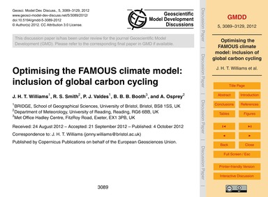 Optimising the Famous Climate Model: Inc... by Williams, J. H. T.