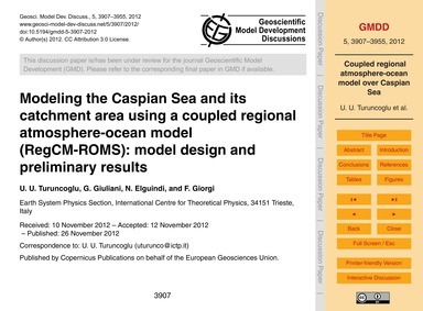 Modeling the Caspian Sea and Its Catchme... by Turuncoglu, U. U.