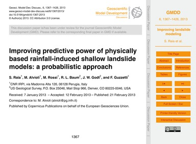 Improving Predictive Power of Physically... by Raia, S.