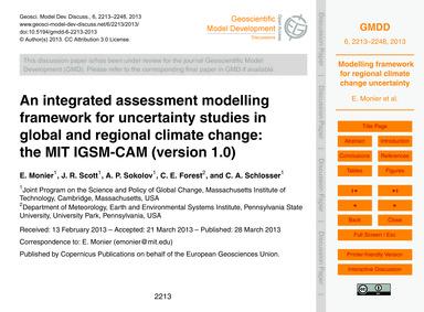 An Integrated Assessment Modelling Frame... by Monier, E.
