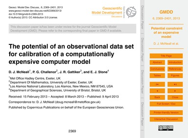 The Potential of an Observational Data S... by McNeall, D. J.