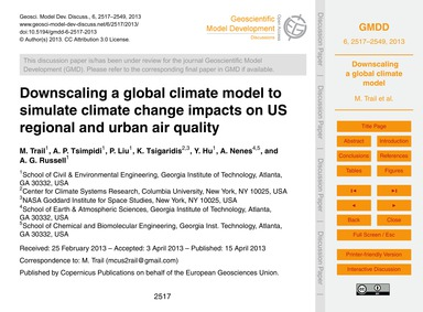 Downscaling a Global Climate Model to Si... by Trail, M.