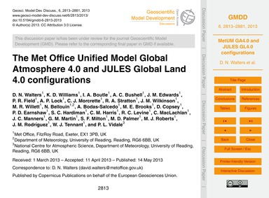 The Met Office Unified Model Global Atmo... by Walters, D. N.