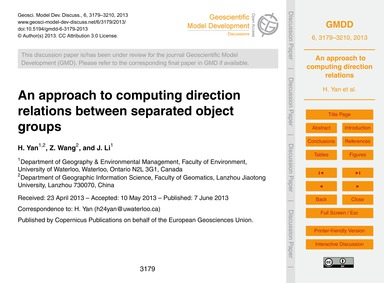 An Approach to Computing Direction Relat... by Yan, H.