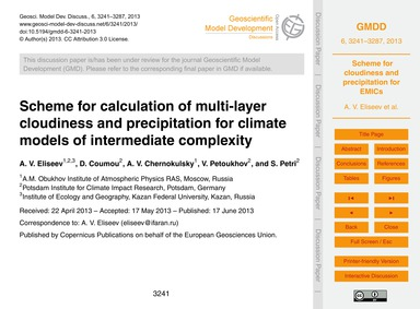 Scheme for Calculation of Multi-layer Cl... by Eliseev, A. V.