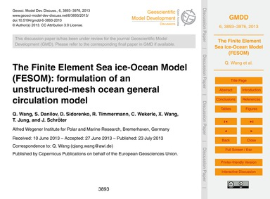 The Finite Element Sea Ice-ocean Model (... by Wang, Q.