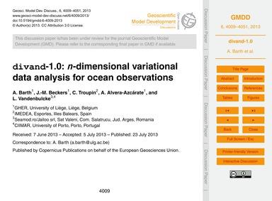 Divand-1.0: N-dimensional Variational Da... by Barth, A.