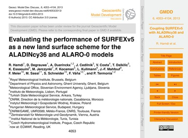 Evaluating the Performance of Surfexv5 a... by Hamdi, R.