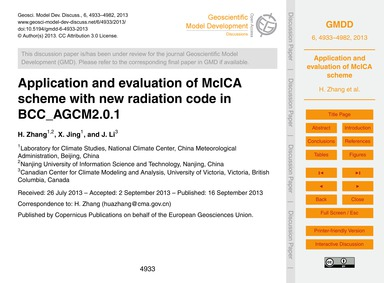 Application and Evaluation of McIca Sche... by Zhang, H.