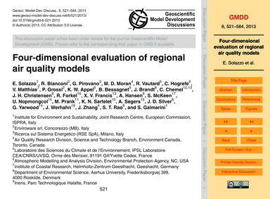 Four-dimensional Evaluation of Regional ... by Solazzo, E.