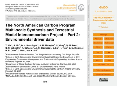 The North American Carbon Program Multi-... by Wei, Y.