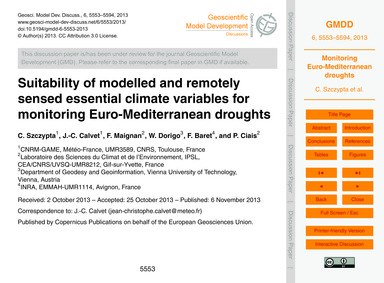 Suitability of Modelled and Remotely Sen... by Szczypta, C.