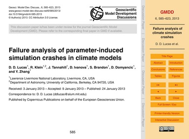 Failure Analysis of Parameter-induced Si... by Lucas, D. D.