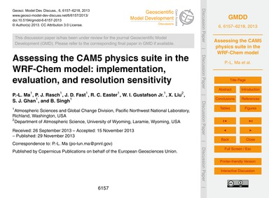 Assessing the Cam5 Physics Suite in the ... by Ma, P.-l.