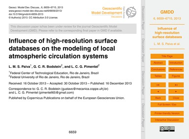 Influence of High-resolution Surface Dat... by Paiva, L. M. S.