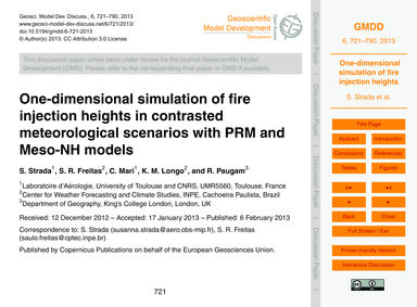 One-dimensional Simulation of Fire Injec... by Strada, S.