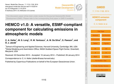 Hemco V1.0: a Versatile, Esmf-compliant ... by Keller, C. A.