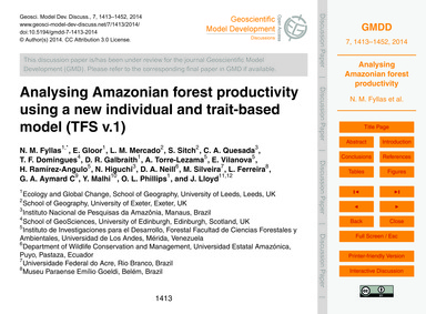 Analysing Amazonian Forest Productivity ... by Fyllas, N. M.