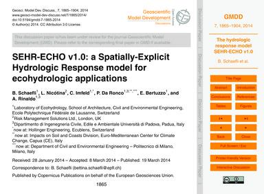 Sehr-echo V1.0: a Spatially-explicit Hyd... by Schaefli, B.
