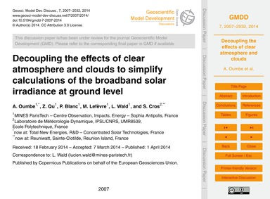 Decoupling the Effects of Clear Atmosphe... by Oumbe, A.