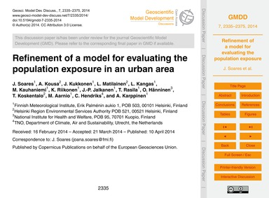 Refinement of a Model for Evaluating the... by Soares, J.