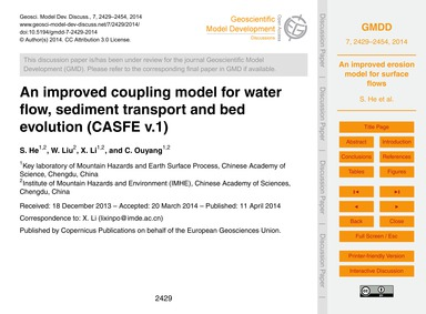 An Improved Coupling Model for Water Flo... by He, S.