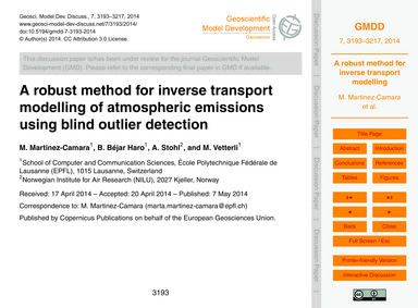 A Robust Method for Inverse Transport Mo... by Martinez-camara, M.